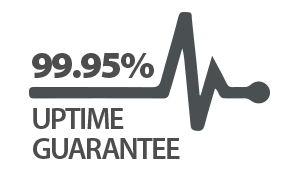 We provide a 99.95% service uptime guarantee