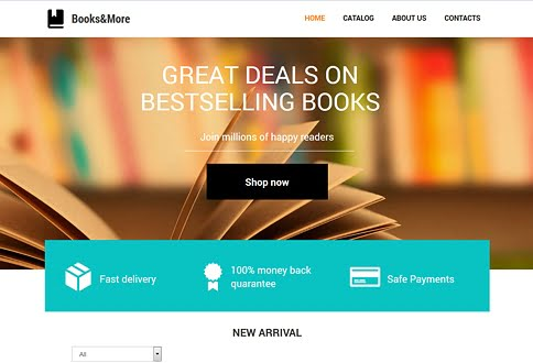 Free website builder for bookstores and bookstore website templates