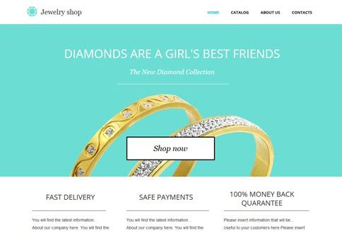 Free website builder for jewelery stores and bookstore jewelry store templates