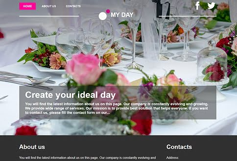Free website builder for weddings and wedding planning website templates
